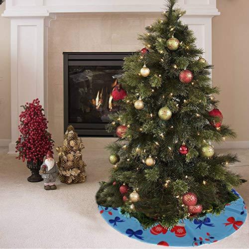 ZHANGhome Weihnachtsbaum Rock süß farbige kreative Boxhandschuhe drucken Markenzeichen Baum Rock Polyester Baum Rock Weihnachten Teppich für Party Urlaub Dekorationen Xmas Ornamente
