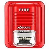 KKMOON Allarme Incendio Sirena Suono & Allarme Strobe Horn Sistema di Sicurezza della Protezione per...