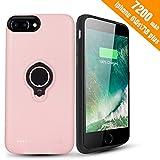 Coque Batterie iPhone 8 Plus/7 Plus/6 Plus/6s Plus,7200mAh Chargeur Portable Batterie Externe Rechargeable Puissante Power Bank Coque Chargeur de Protection - Rose