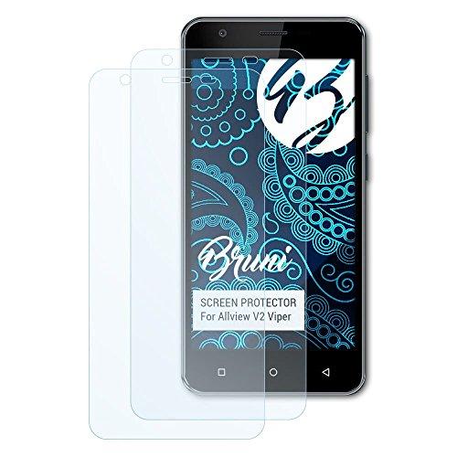 Bruni Schutzfolie für Allview V2 Viper Folie, glasklare Bildschirmschutzfolie (2X)
