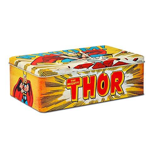 Thor Blechdose - Dose aus Blech mit Marvel Comics Motiv - gelb - Lizenziertes Originaldesign - LOGOSHIRT