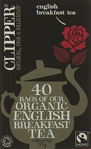 Clipper Organic English Breakfast Tea 40 Teabags (Pack of 6, Total 240 Teabags)