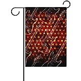 fingww Jardín Banner De Glowin Guitarra Eléctrica Fiesta Bandera Inicio Día De San Patricio Bienvenido Doble Lado Decoratio Jardín Bandera Bandera Vacaciones Exterior Imprimir 32X48Cm Exterior
