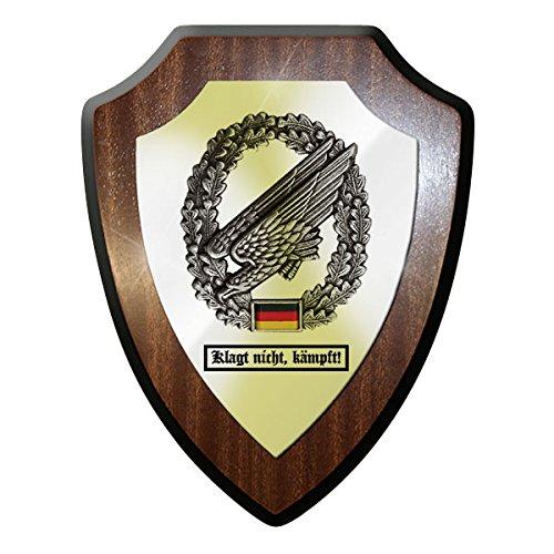 Wappenschild / Wandschild - Klagt nicht, kämpft! Fallschirmjäger Adler Barettabzeichen Metall Bundeswehr Bund Bw Deutschland Emblem Abzeichen - (Fallschirmjäger Uniform)