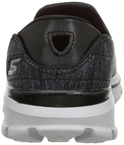 Skechers Gowalk 3 Force, Sneakers basses femme Black (Bkgy)