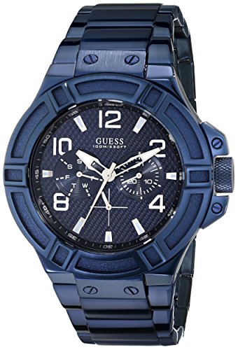 Guess u0218g4 – Wristwatch Men's, Stainless Steel Strap Blue
