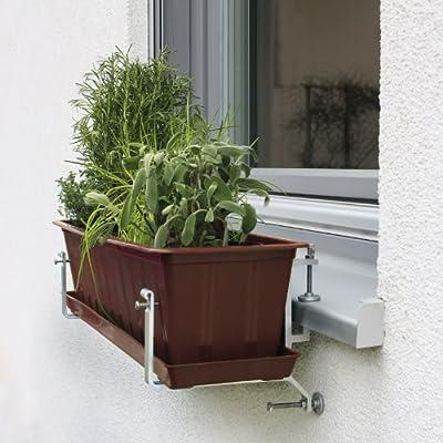 NEUHEIT!!! Der Blumenkastenhalter ohne Balkon und ohne Bohren einfach an der Fensterbank von Treba bei Du und dein Garten