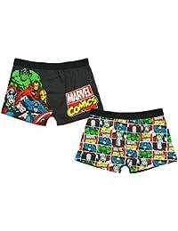 Mens PACK OF 2 Marvel Comics Captain America Hulk Trunk Fit Briefs sizes S M L XL