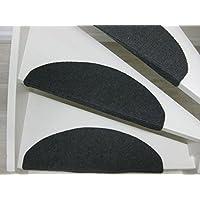 Teppichwahl Alfombrillas para peldaños de Escalera Lilongwe 65 x 21 x 4 cm Azul, Antracita y Beige (Antracita)