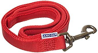 Ancol Air Hold Padded Dog Lead Red 180cm Long