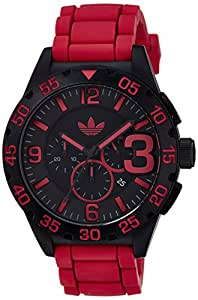 Adidas adh2793 48mm Nylon Case Red Silicone Mineral Men's Watch
