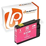 Bubprint Druckerpatrone kompatibel für HP 933XL für Officejet 6100 e-Printer 6600 e-All-in-One 6700 Premium 7110 7510 7610 7612 Wide Format Magenta
