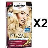 NEUF Schwarzkopf Palette Coloration Cheveux Teinture 100 ULTRA BLONDE X 2 Lot MAINTENANT AVEC HUILE D'ARGAN pour Extra éclat
