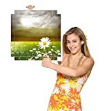 Möbelsticker Naturwiese Blumen Gewitter für Beistelltisch. Möbelaufkleber