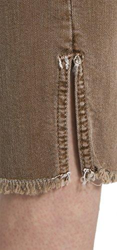 NYDJ Ami Skinny Ankle en Coloured Denim Satchel Brown