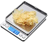 CestMall Stainless Steel Digital Kitchen Scales(500g 0.001oz/0.01g) High Precision Digital Pro Pocket Scales