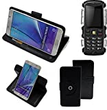K-S-Trade® Hülle Schutzhülle Case Für -Jiayu F2- Handyhülle Flipcase Smartphone Cover Handy Schutz Tasche Bookstyle Walletcase Schwarz (1x)
