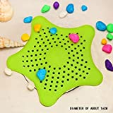 #7: VDNSI Starfish Hair Catcher Rubber Bath Sink Strainer Shower Drain Cover Trap Basin