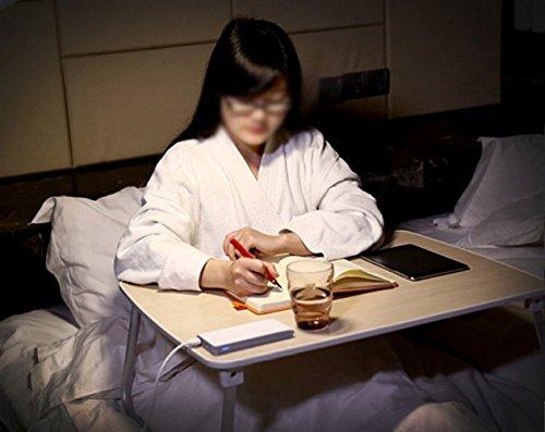 ZEXIKUN Laptop Tisch Bett Schreibtisch Minimalistischen Klapptisch Faul Kleine Tabelle Falten Utility Table,White-70 * 50 * 27cm - Utility-tabelle