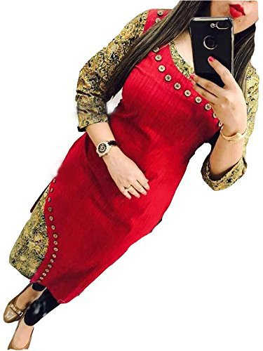 Holyday Latest Party Wear Designer Printed Selfie Kurti For Women Red Color...