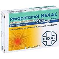 Paracetamol Hexal 500 mg Tabletten, 20 St. preisvergleich bei billige-tabletten.eu