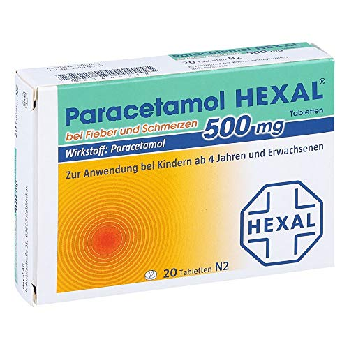 Paracetamol HEXAL 500 mg, 20 St. Tabletten - Paracetamol 500 Mg Tabletten