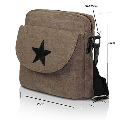 Glamexx24 Borsa a tracolla in stoffa borsa a mano e spalla con una bella stella Blu