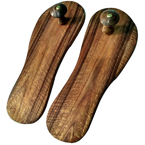 VISHAL INDIA MART HANDCRAFTED WOODEN KHADAU POOJA ARTICLES, CHARAN PADUKA FOR HOME OR OFFICE TEMPLE, WOODEN SLIPPER, WOODEN SANDALS, KHADAU FOR WORSHIP  available at amazon for Rs.229