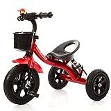 Dreiräder WSSF- 3 Rad Fahrrad Baby Kleinkind Pedal Ride-on Fahrrad Spielzeug Auto Aufblasbare Rad 1-2-3-4 Einjährig Kinder Trike Farbe Optional (Farbe : Red)