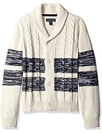 Nautica Boys' Shawl Collar 'Portmaster' Striped Cardigan Sweater