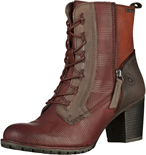 Bugatti 411333343515, Stivali Donna Rosso (Dark Red/ Multicolour)