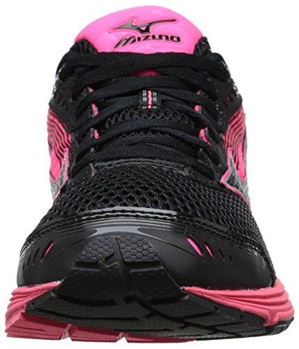 Mizuno Wave Sayonara 3 Synthétique Chaussure de Course Black-Neon Pink