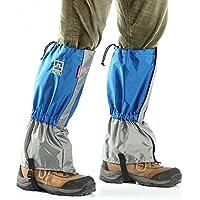 AOTU Unisex Impermeable de senderismo Escalada Actividades de esqui alpinismo Exterior Proteccion de las piernas anti-nieve arena azul
