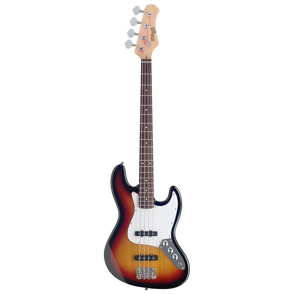 stagg b300 bk standard j bass guitar black amazon co uk