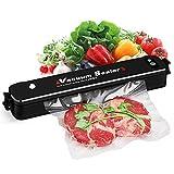 Vakuumiergerät,POAO Lebensmittel Folienschweißgerät 34cm für Vakuum und Siegel,Automatisch Vakuumierer und Schweißen mit 15 pcs Gratis Bags