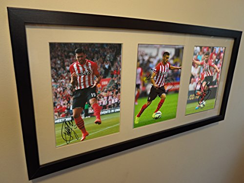 signed-graziano-pelle-shane-long-tadic-autographed-triple-southampton-photo-picture-frame-photograph