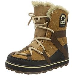 Sorel Glacy Explorer Shortie, Botas de Nieve para Mujer, Marrón (Elk 286), 36 EU