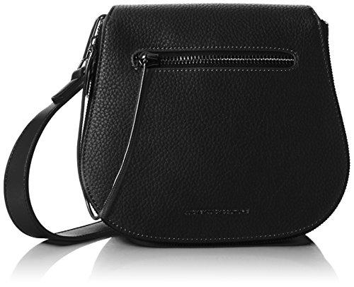 Juicy by Juicy Couture Damen Arleta Umhängetasche, Schwarz (Black Grainy), 9.5x21.5x22.5 cm (Couture Handtasche Juicy Schwarz)