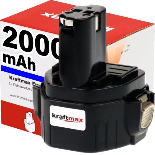 Preisvergleich Produktbild Akku für MAKITA Bohrschrauber 6227D - 12V / 2000mAh / Ni-Cd - Profiqualität mit frischen, hochwertigen Zellen