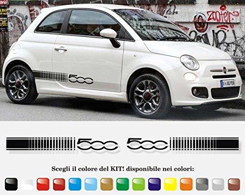 Stickers autocollants bandes pour FIAT 500 COD004
