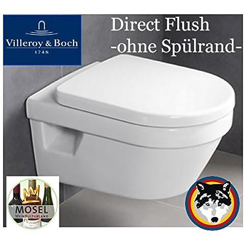 Villeroy und Boch Omnia Architectura directf Lush–sin bordes Ceramicplus + 3botellas de vino Mosel