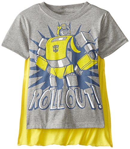 s Bumblebee Roll Out Toddlers Grey T-Shirt with Cape | 4T ()