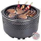 MP Essential - Tavolo Portatile a Carbone per Barbecue, Campeggio, roulotte, Picnic, Barbecue, Barbecue, Yoga