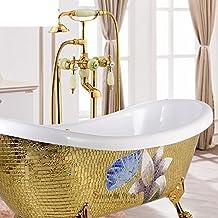 Badezimmer freistehende Chaiselongue Badewanne Wasserhahn/Brausebatterie/Europäische antike Badewannen Duschen-C