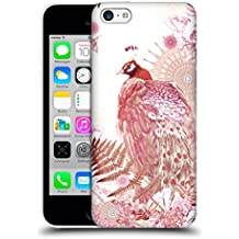 Official Monika Strigel Coral Tropical Peacock Hard Back Case for Apple iPhone 5c
