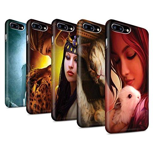 Officiel Elena Dudina Coque / Clipser Matte Etui pour Apple iPhone 7 Plus / Le Calin/Chiot/Chien Design / Les Animaux Collection Pack 16pcs