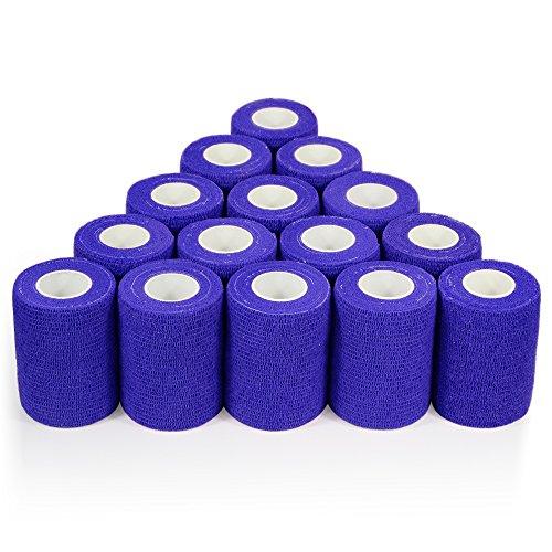 152cm Verbände kohäsive Bandage 7,5cm x 4,5m 16Stück FDA genehmigt, dunkelblau