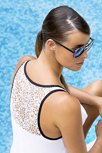 Cache Coeur - Sydney maillot de bain grossesse (BM179) - blanc et noir Blanc