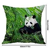 DGdolph Funda de Almohada Panda Funda de cojín Reversible con Lentejuelas y Brillo 45 * 45cm