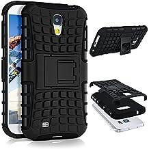 Caso del tanque para Samsung Galaxy S4   Caso al aire libre con protección de doble capa   Bolsa de protección celular OneFlow   De vuelta en la cubierta Negro